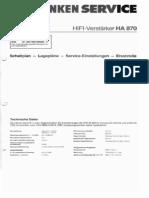 Telefunken HIFI Verstärker HA870