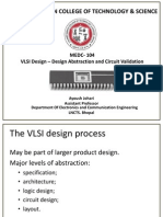 4. Design Abstraction and Validation VLSI MEDC 104