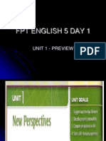 FPT ENGLISH 5 DAY 1 -Unit 1 - Preview and Les1 (1)