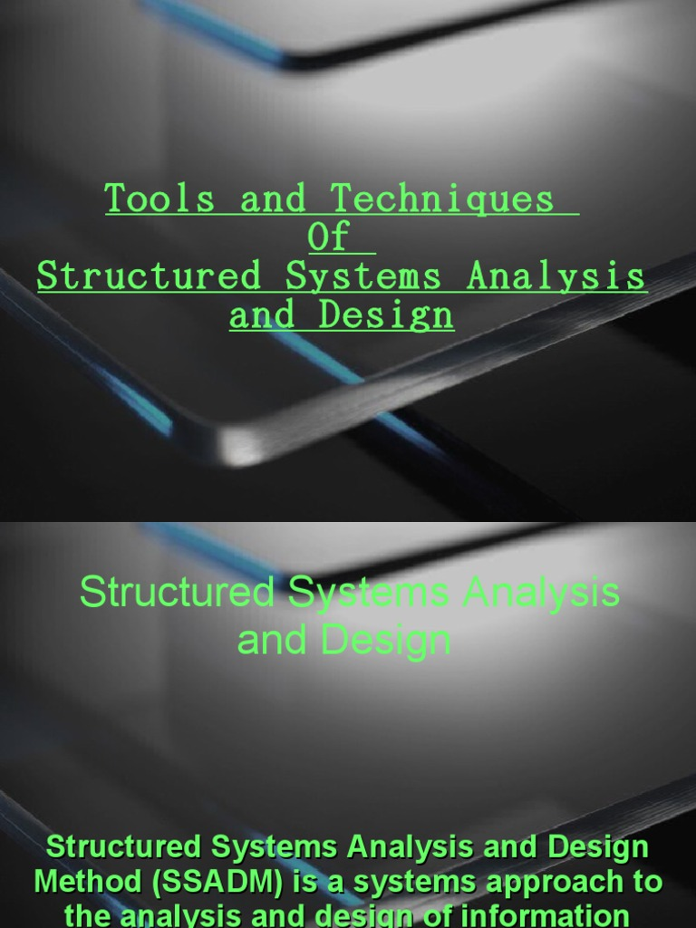 Tools And Techniques Of Ssad Areas Of Computer Science Information Technology Management