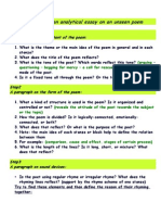 Steps for Writing an Analytical Essay on an Unseen Poem