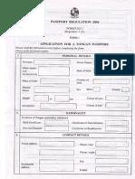 Passport Application Form ENG