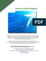 Manual Instalacion Windows7