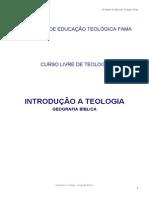 Introdução a teologia - Geografia Bíblica