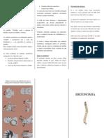 Folheto - Ergonomia