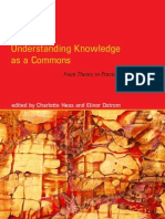 Understanding Knowledge as a Commons From Theory to Practice - MIT Press