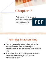 Fairness, disclosure and future trends in accounting