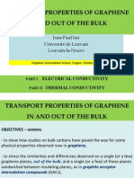 Transport Properties of Graphenein and Out of the Bulk
