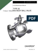 IOM Manual for CAMAROON Ball valves