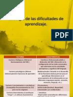 Etiología de las dificultades de aprendizaje 29.06
