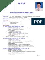 Professional Profile of Mumtaz Ahmad