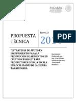 Propuesta Solicitudes Equipamiento Produccion Sierra