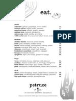 Petruce et al. Opening Menu