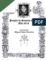 Pregon de Semana Santa Albox 2014 - Miguel Saez Vizcaino
