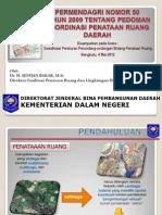 Peraturan Menteri Dalam Negeri Nomor 50 Tahun 2009 tentang Pedoman Koordinasi Penataan Ruang Daerah