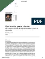ALLARD_Olivier_Des Morts Pour Pleurer