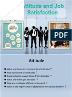Attitude and Job Satisfaction New