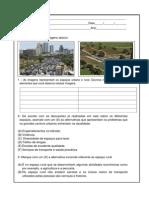 Atividade Espaço Urbano e Rural
