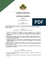 POSTURA DE TRÂNSITO