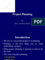 PROJECT FINANCE-PROJECT PLANNING