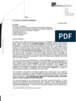 Letter to the Chairman of the Accounts Chamber of the Russian Federation