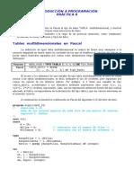 Práctica8-Tablas multidimensionales