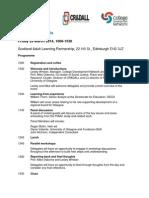 PIACC Seminar Edinburgh Programme