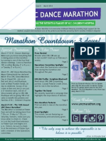 March 2014 UNC Dance Marathon Newsletter