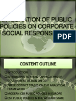 Integration of Public Policies on CSR