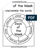 Days of the Week Circle 2