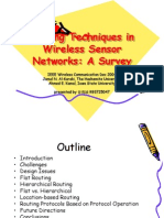 Routing Techniques in Wireless Sensor Networks