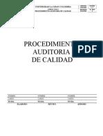 Procedimiento Auditoria Calidad