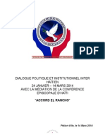 Accord sur le dialogue inter-haitien El Rancho, Vendredi 14 mars 2014