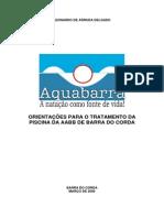 Aquabarra - ORIENTAÇÕES PARA O TRATAMENTO DA Pisicina