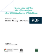 Diretrizes da IFLA sobre os serviços de biblioteca pública. 2.ª edição revista e atualizada
