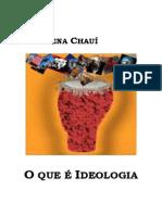 O que é ideologia de Marilena Chaui