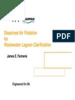 55_Jim Farmerie_Dissolved Air Flotation for Lagoon