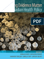 Making Evidence Matter in Canadian Health Policy
