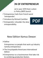 Slide of Entrepreneur