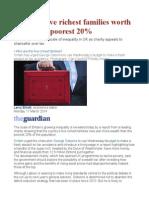Britain's Five Richest Families Worth More Than Poorest 20%