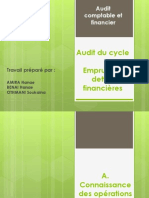 Audit Cycle Emprunts Et Dettes