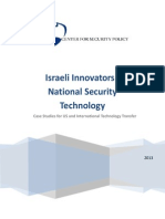 Www.centerforsecuritypolicy.org Wp Content Uploads 2013 08 Israeli Innovators in National Security Technology 2013 Interim Draft
