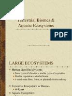 land and aquatic biomes