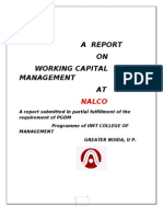 report on working capital