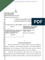 DOJ Response to TRO 3.17.2014