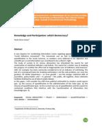 Parra Saiani - Knowledge and Participation - Which Democracy - Relmecs