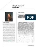 Understanding the Terms of Security Agreements