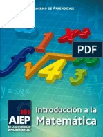 AIEP Cuaderno de Aprendizaje Introducción a la Matemática 2012