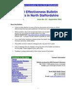 Clinical Effectiveness Bulletin 32 - September 2009