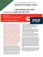 Caso de Generación de Energía a Partir de Residuos - Utilización de Generadores de Motor Recíproco de Gas de Bajo BTU